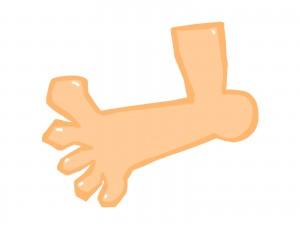 痛風の足の指
