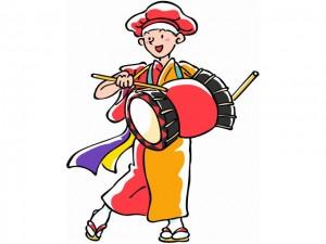 さんさ祭りの太鼓