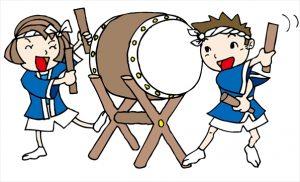 太鼓を叩く子供