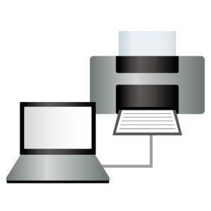 パソコンとプリンタ